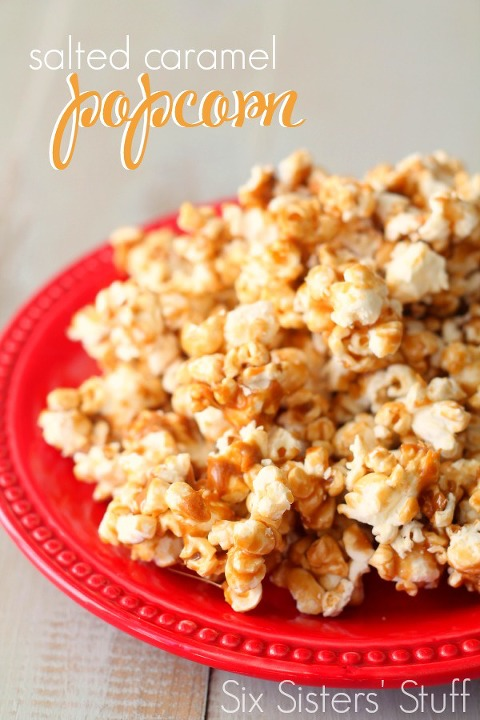 Bowl of Salted Caramel sweet and salty Popcorn Recipe