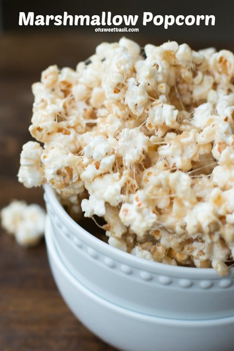bowl of marshmallow sweet popcorn
