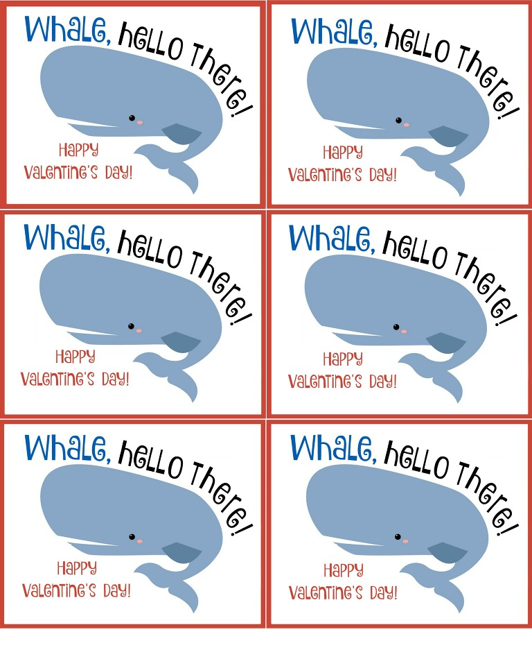 Whale, Hello There! Happy Valentine's Day!