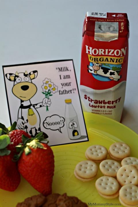 healthy snacks for kids, milk, horizon, cow jokes