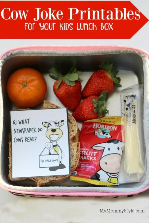 healthy snacks for kids, milk, horizon, cow jokes, cow joke printables