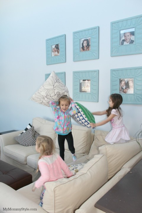 pillow fight, my mommy style party
