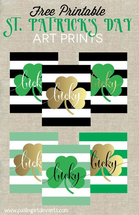 St Patrick's day art printable