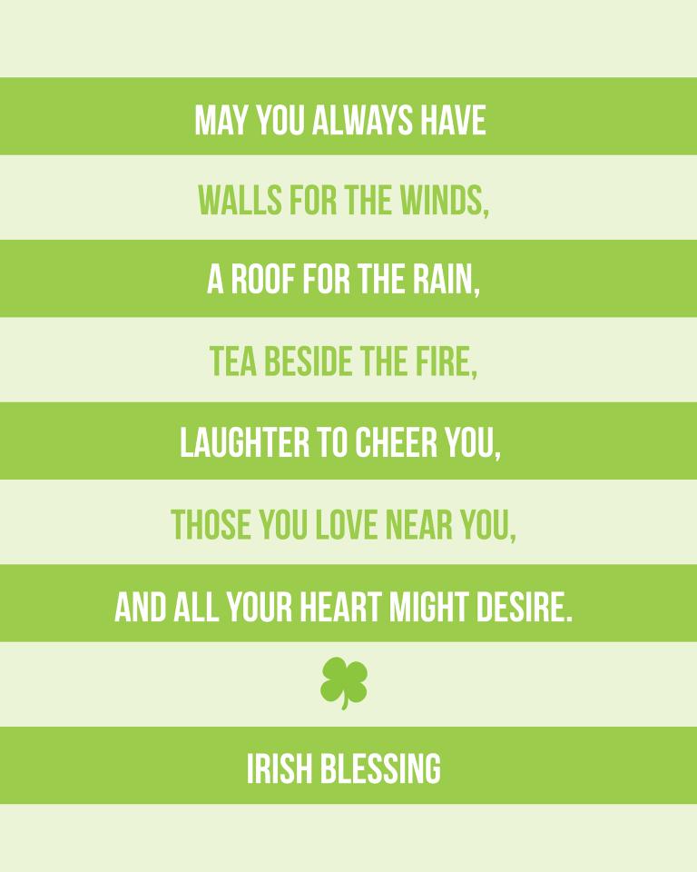 irish blessing printable
