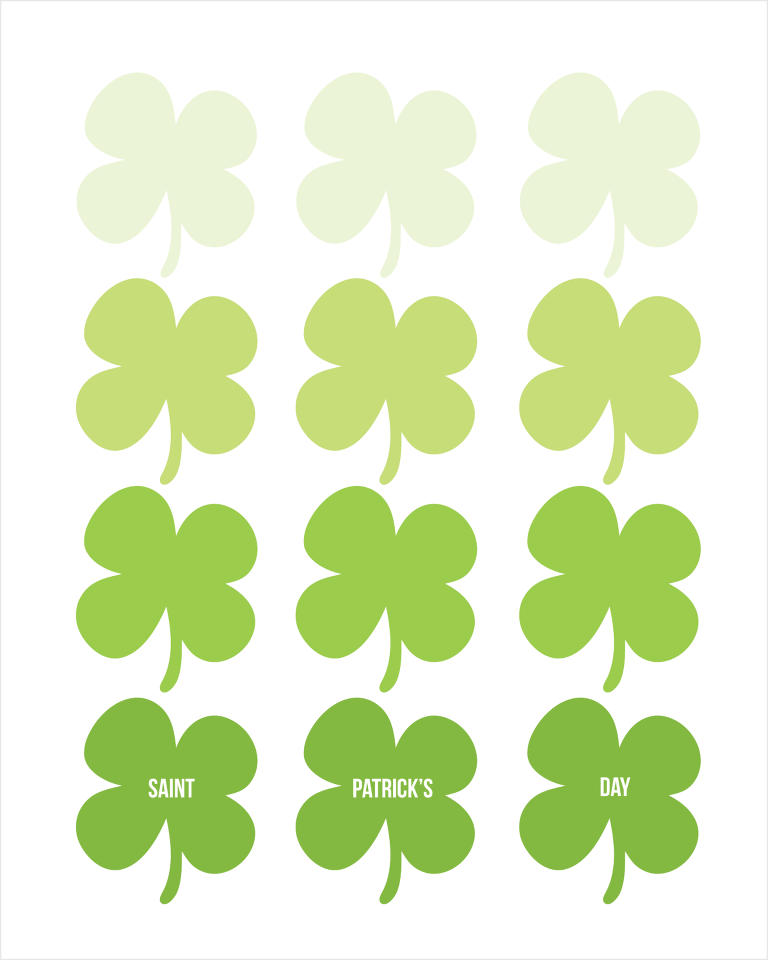 shades of luck st. patrick's day printable