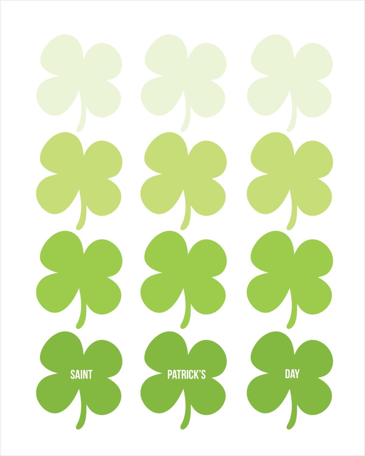 21 St. Patrick\'s Day printables - My Mommy Style