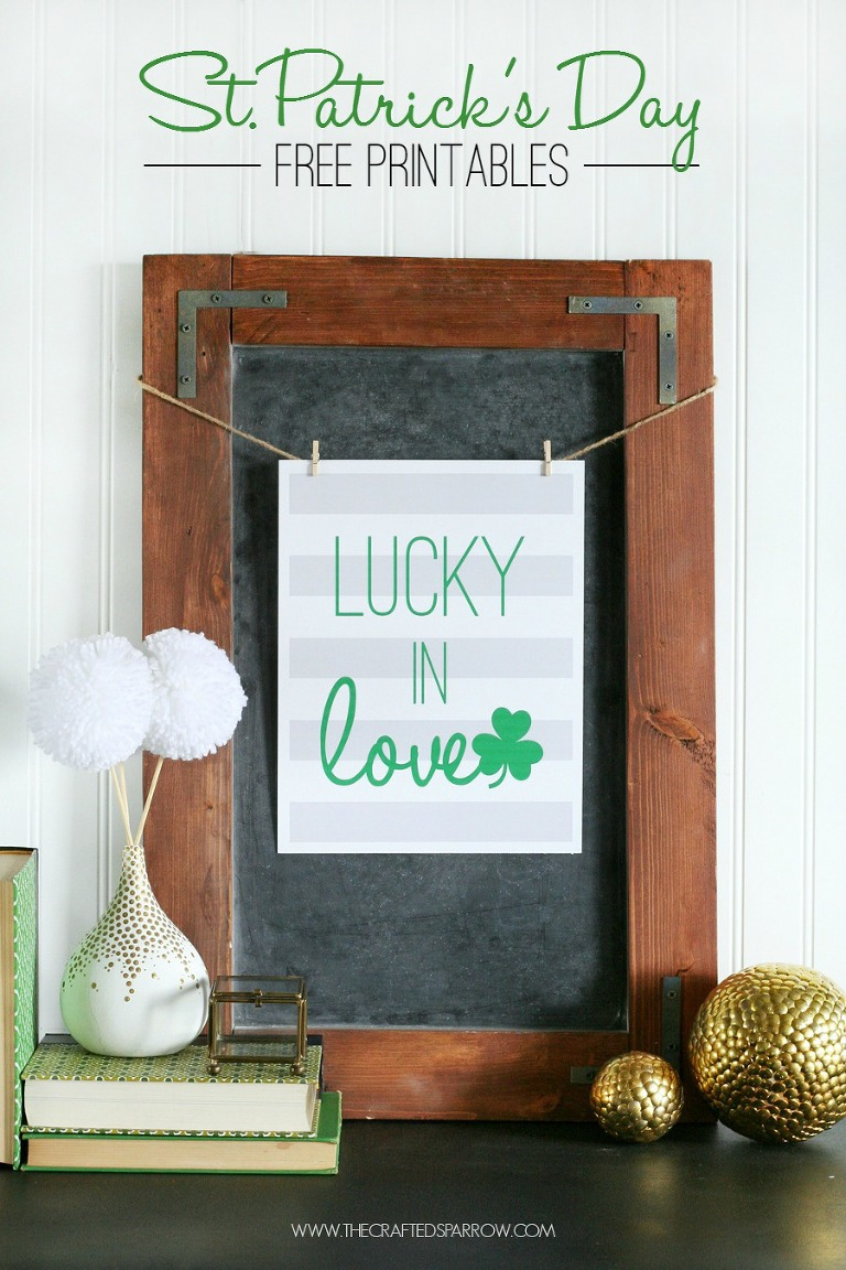 st patrick's day lucky in love printable