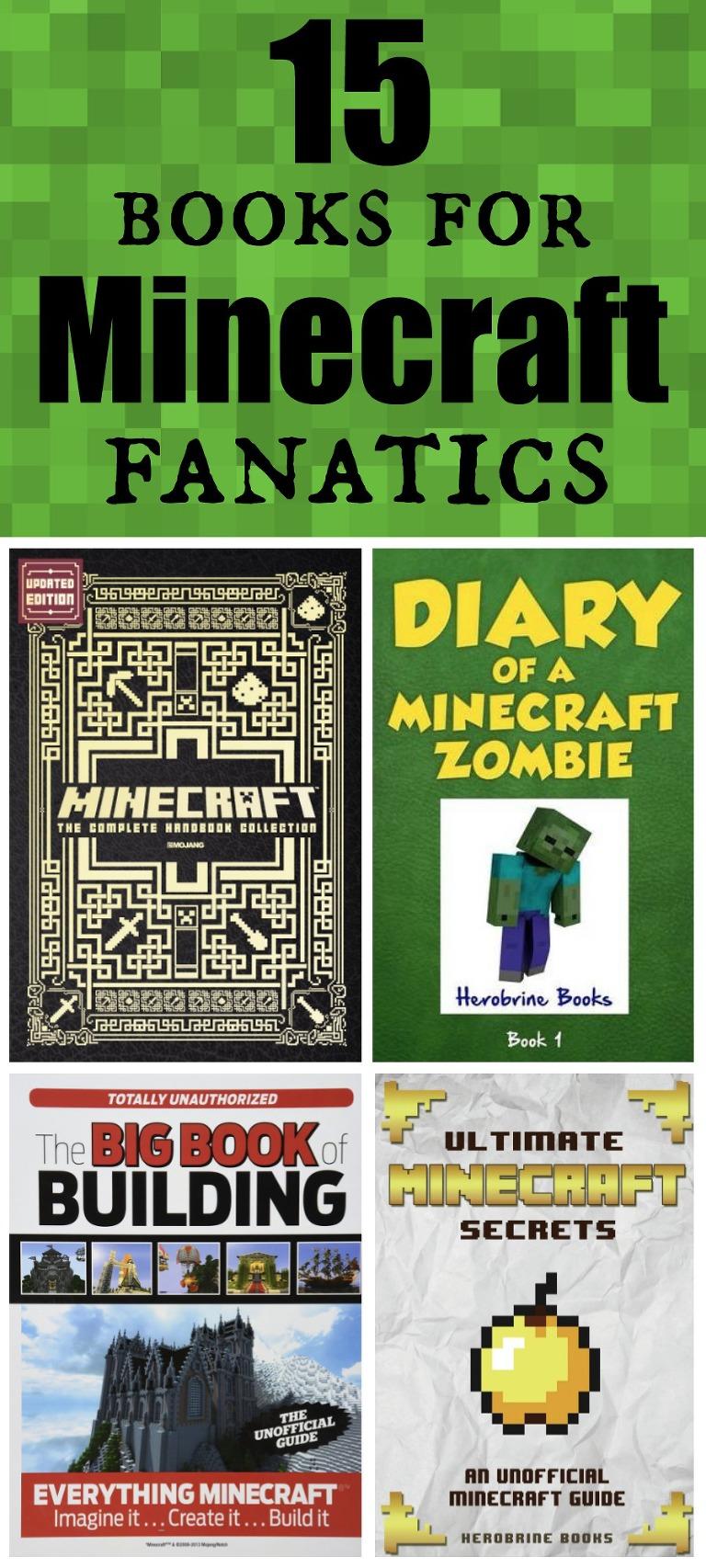 15 books for Minecraft fanatics