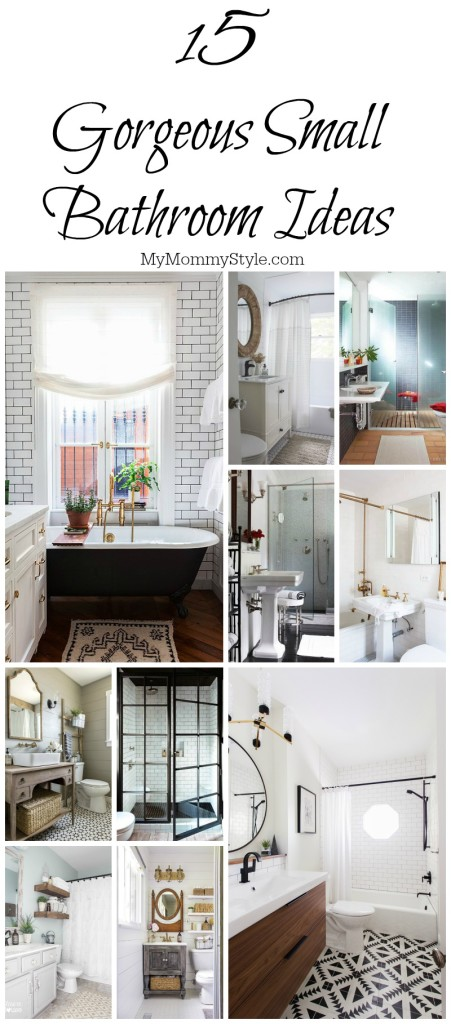 Small Bathroom, Small Bathroom Ideas, Bathroom, Design, Bath, Mymommystyle