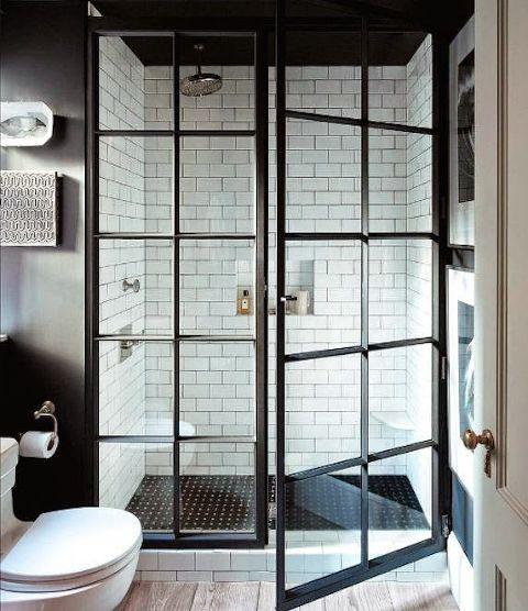 Double Door Shower bathroom
