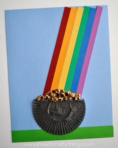 Cupcake Liner Pot of Gold Craft