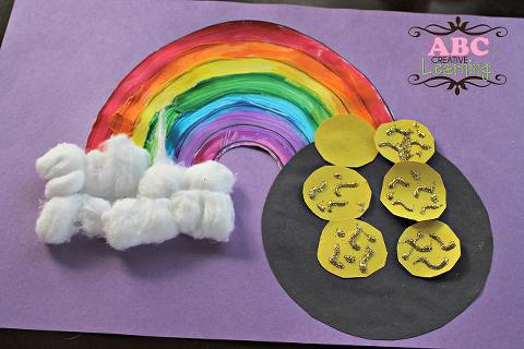 Rainbow and pot of gold craft