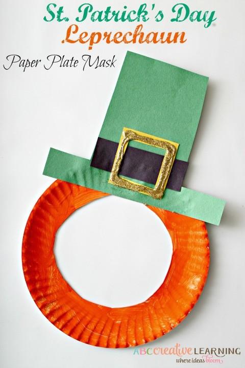 St.-Patricks-Day-Leprechaun-Paper-Plate-Mask-Craft-for-Kids--683x1024