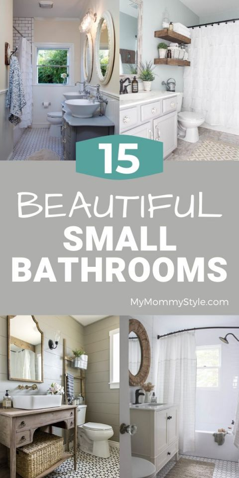 Collage of beautiful small bathrooms