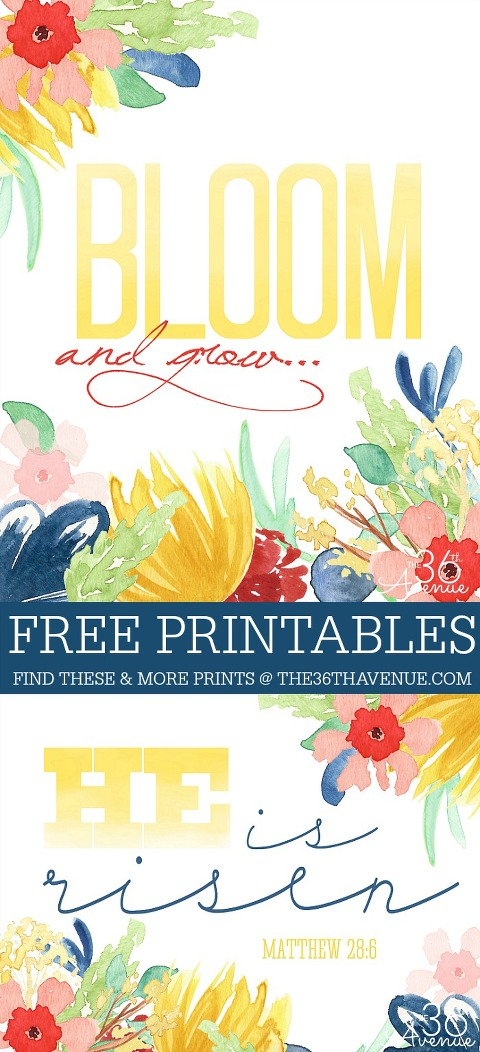 Free printable bloom and grow