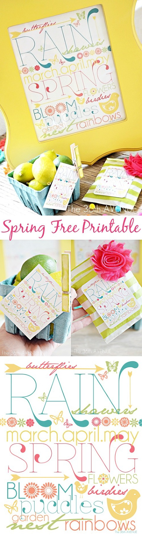 Spring printable from the 36th avenue