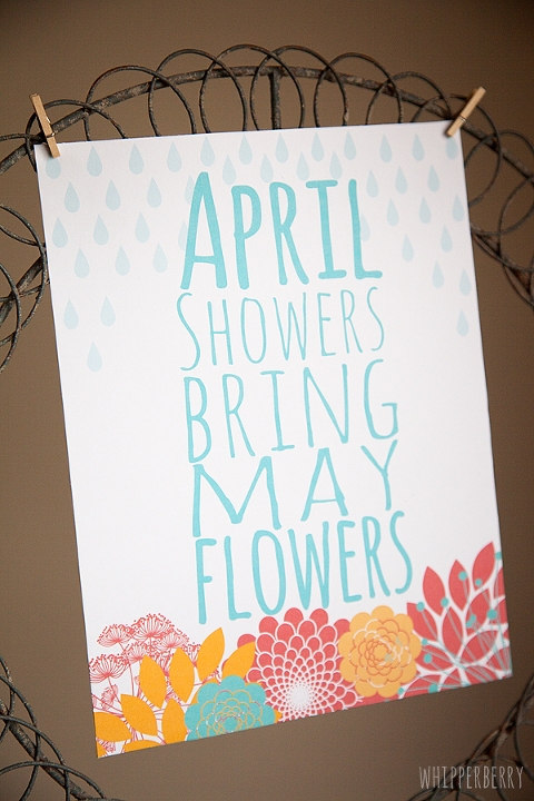 Whipperberry April Showers printable