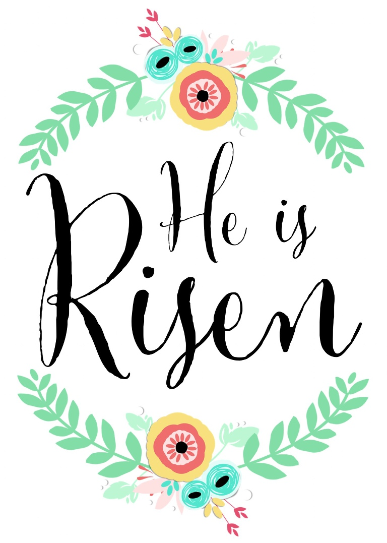 he is risen printable