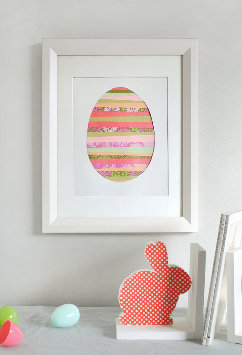 Paper strip egg craft