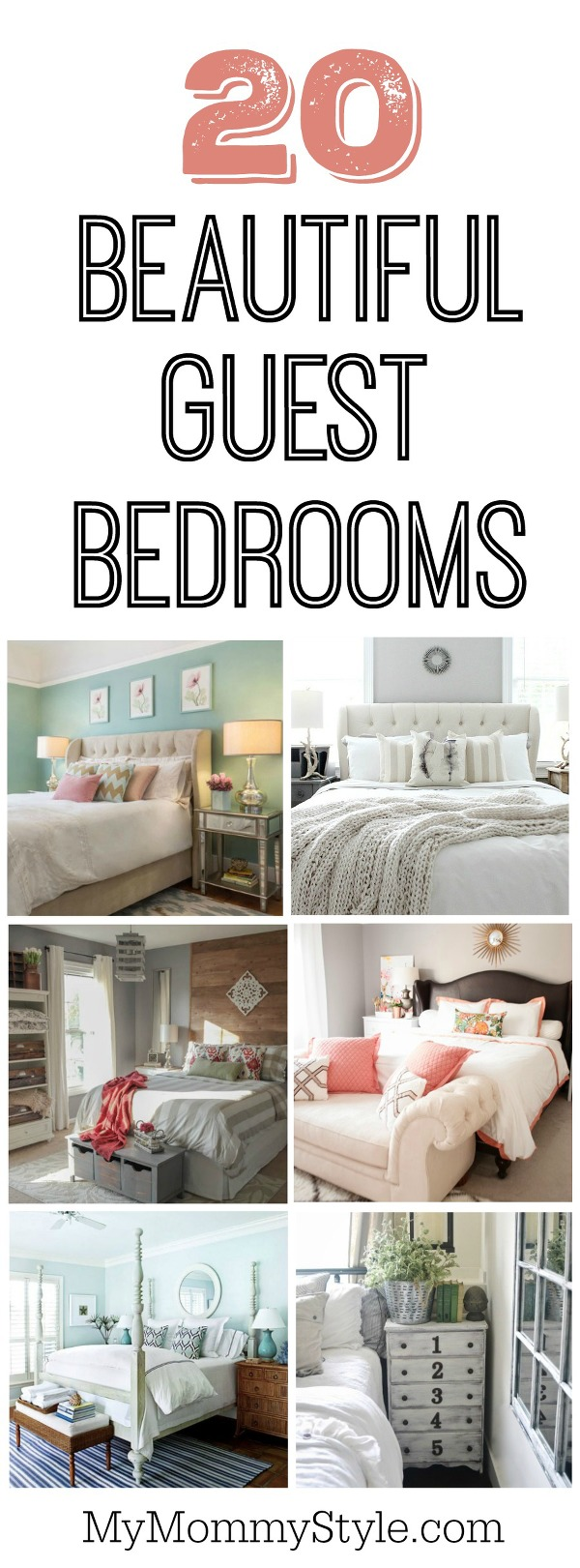 20 beautiful guest bedroom ideas my mommy style for Decorating spare bedroom ideas