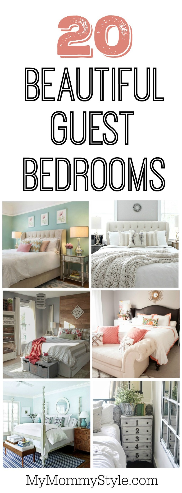 20 beautiful guest bedroom ideas my mommy style for Beautiful bedrooms 2016