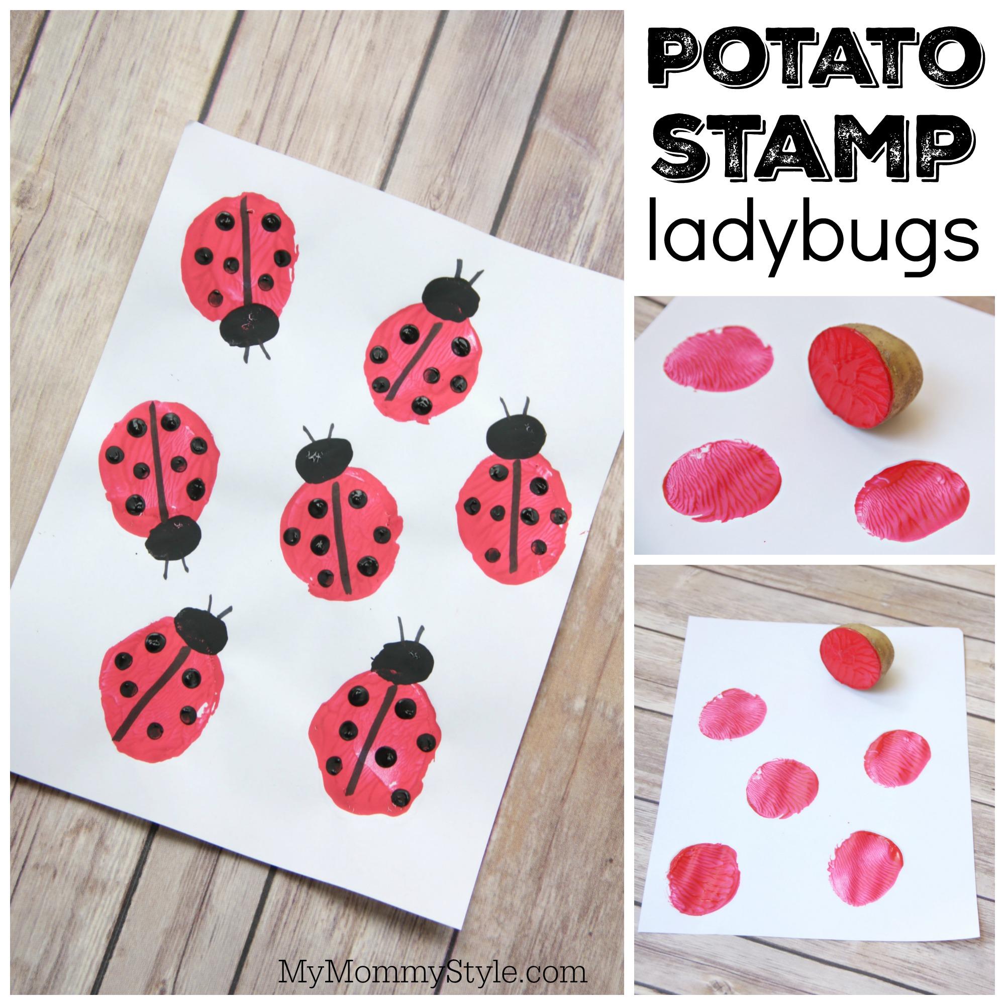 potato stamp ladybugs my mommy style