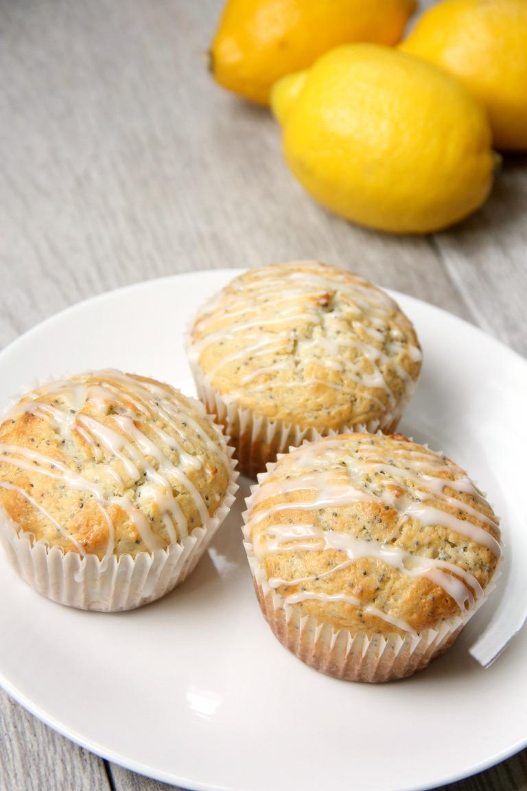 delicious lemon poppyseed muffin