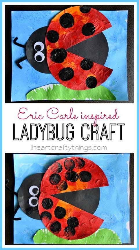 Ladybug art craft