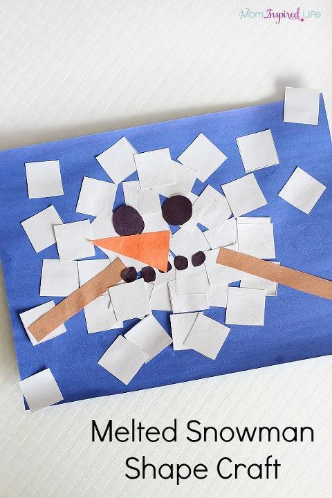 melted snowman shape craft