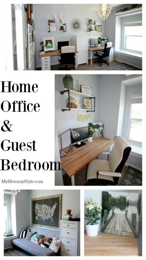 home office, guest bedroom, modern office, office space - Copy
