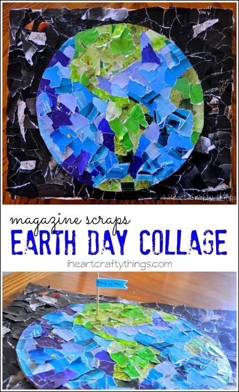 magazine scrap earth day collage