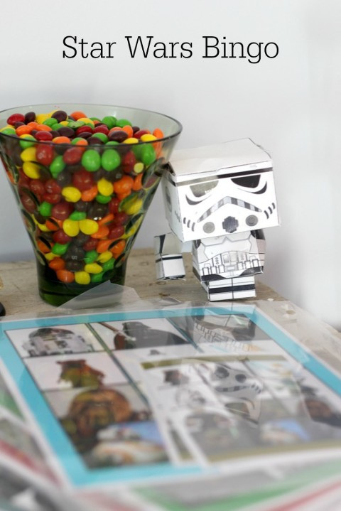 Star Wars Bingo, star wars party