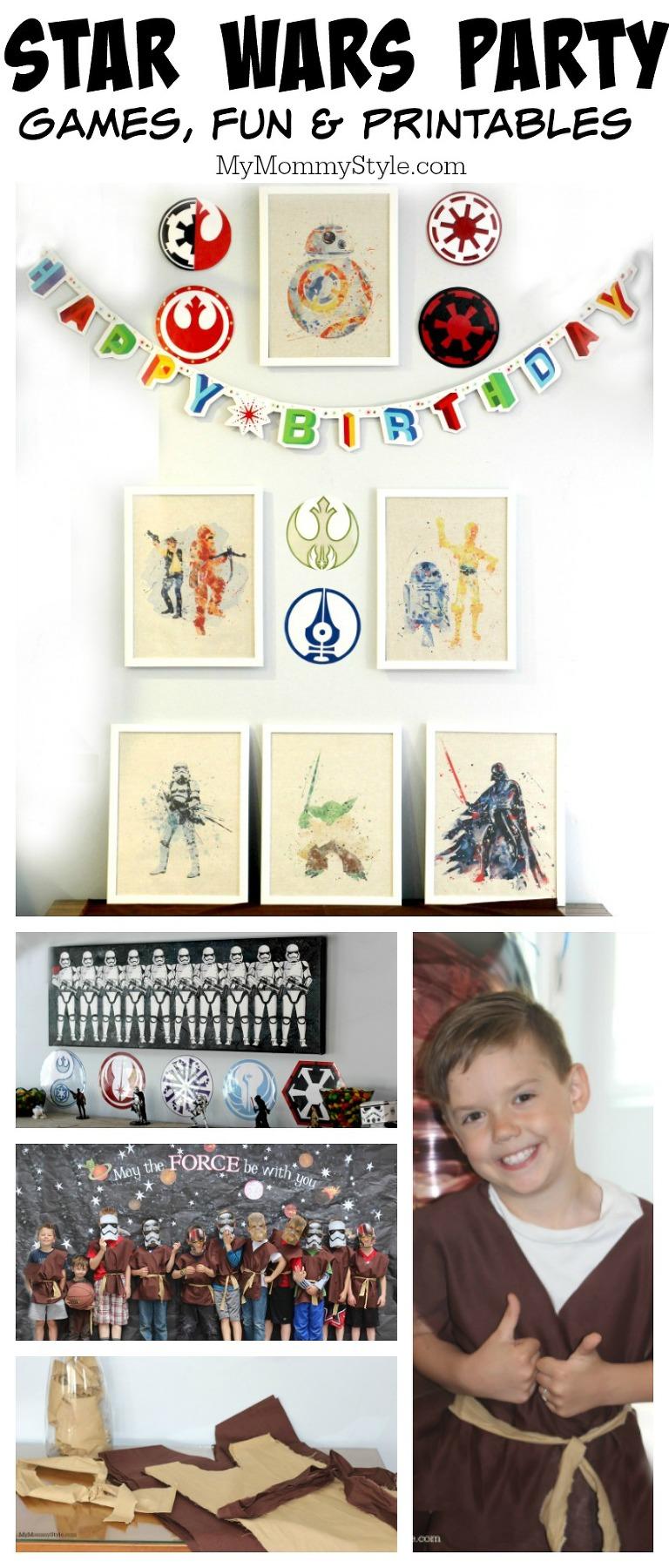 Star Wars Party, Star Wars Birthday Party, Star Wars, Star Wars games