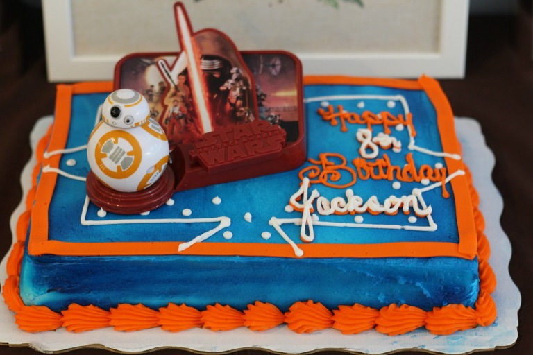 Star Wars cake, my mommy style, star wars birthday, walmart star wars cake