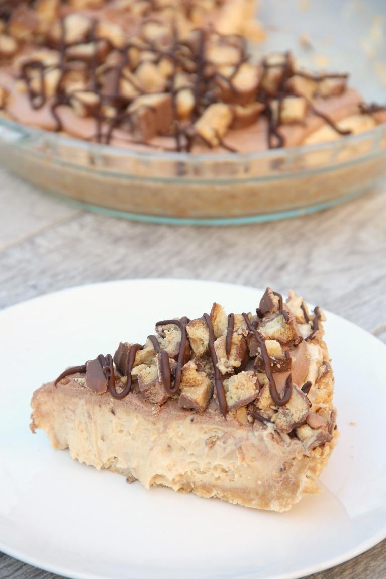 Slice of Peanut Butter Twix Pie