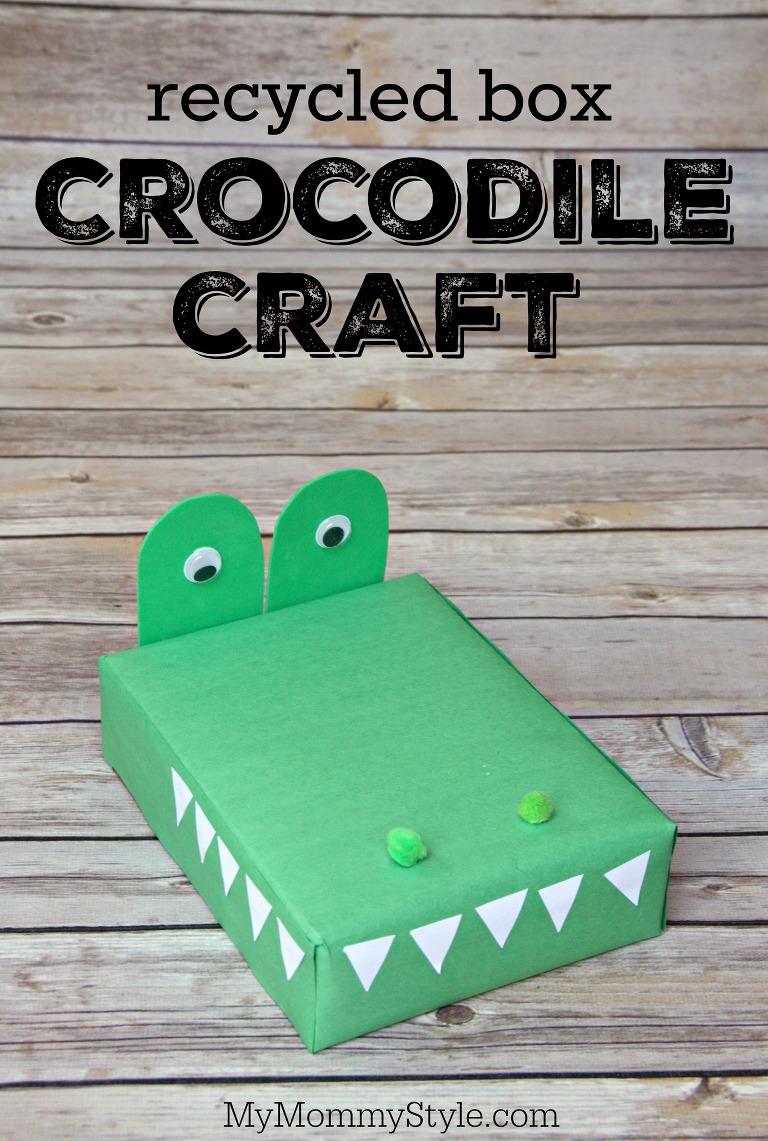 recycled box crocodile
