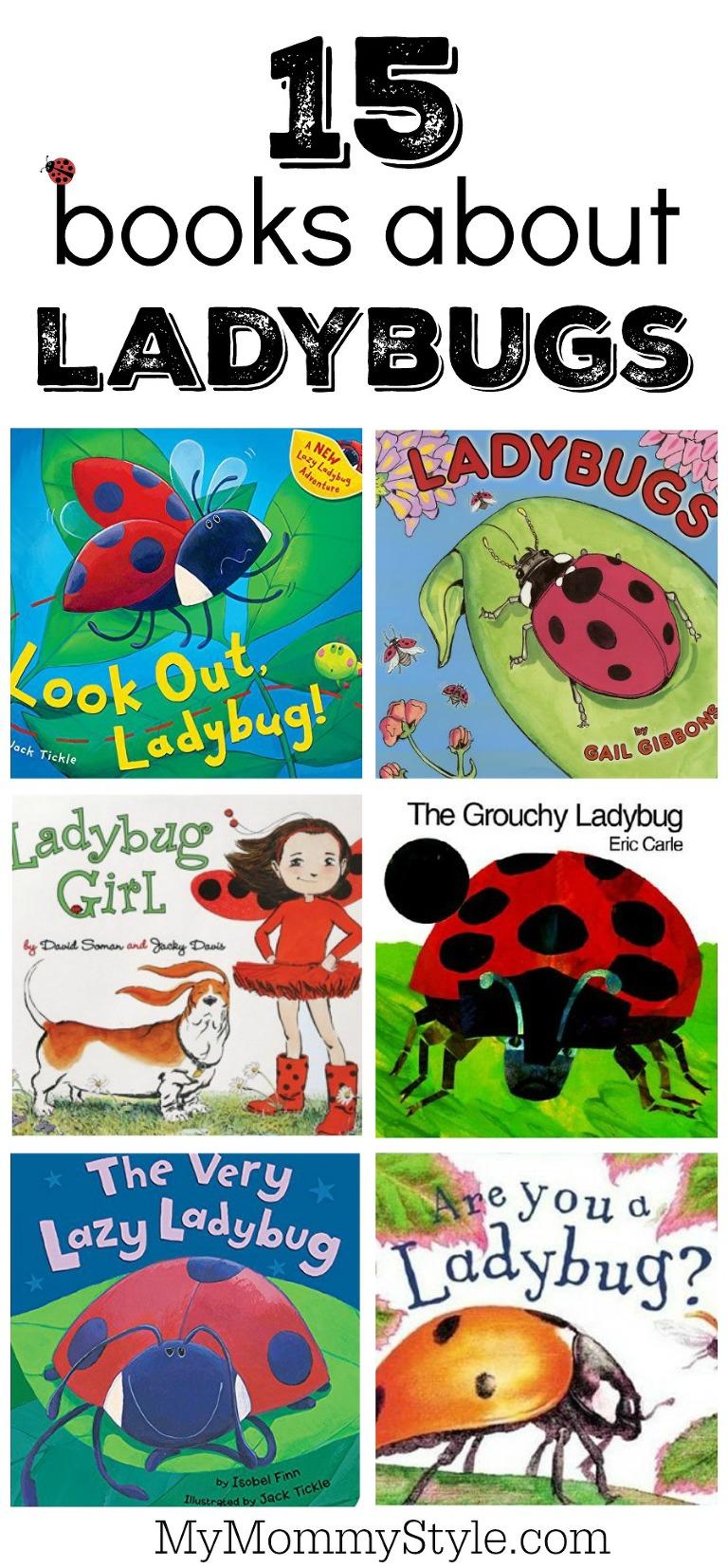 15 books about ladybugs