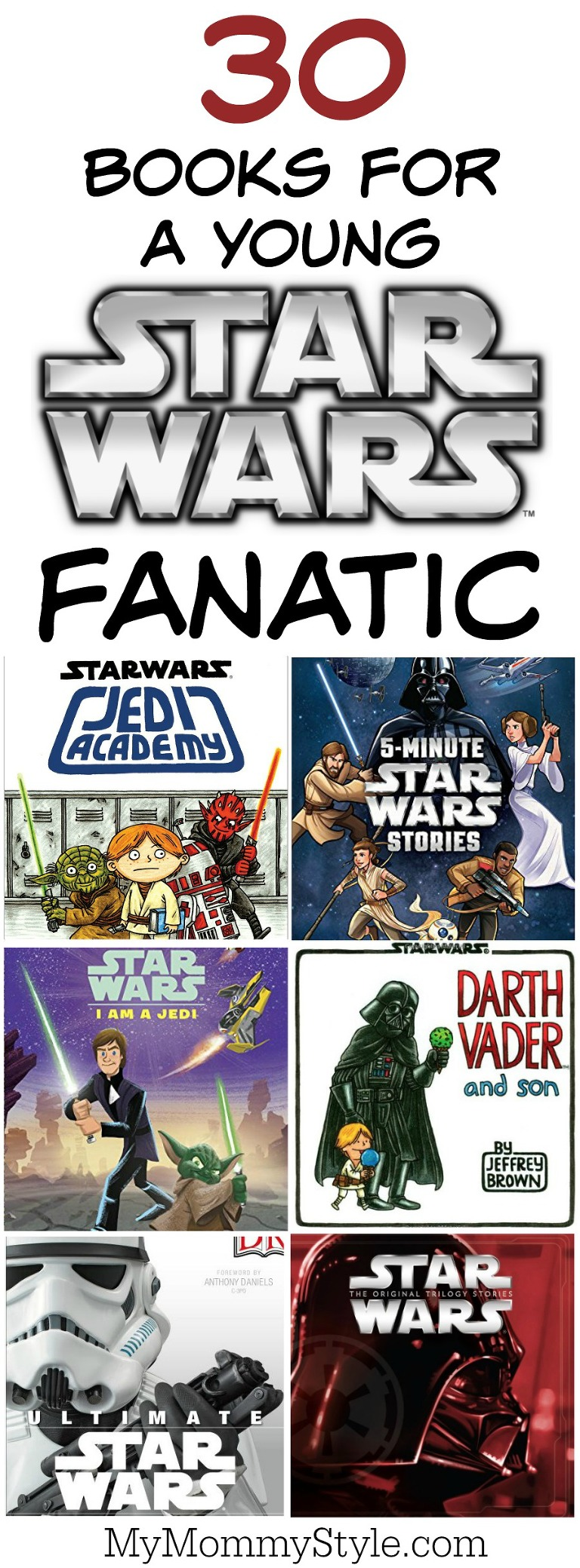 30 books for a young star wars fanatic