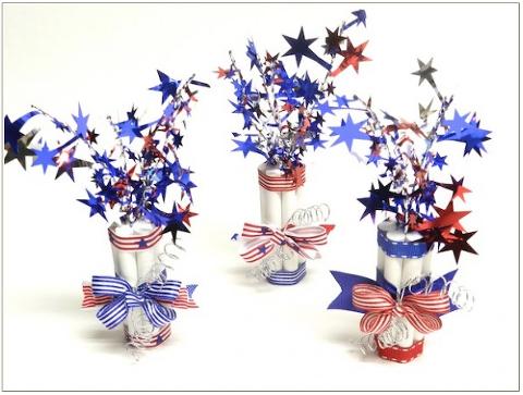 chalk firecracker patriotic centerpieces.
