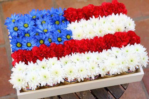mason jar flag patriotic centerpieces
