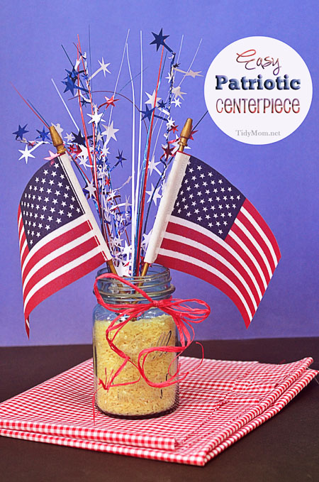 Patriotic centerpieces my mommy style