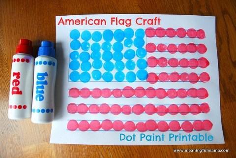Dot painting flag