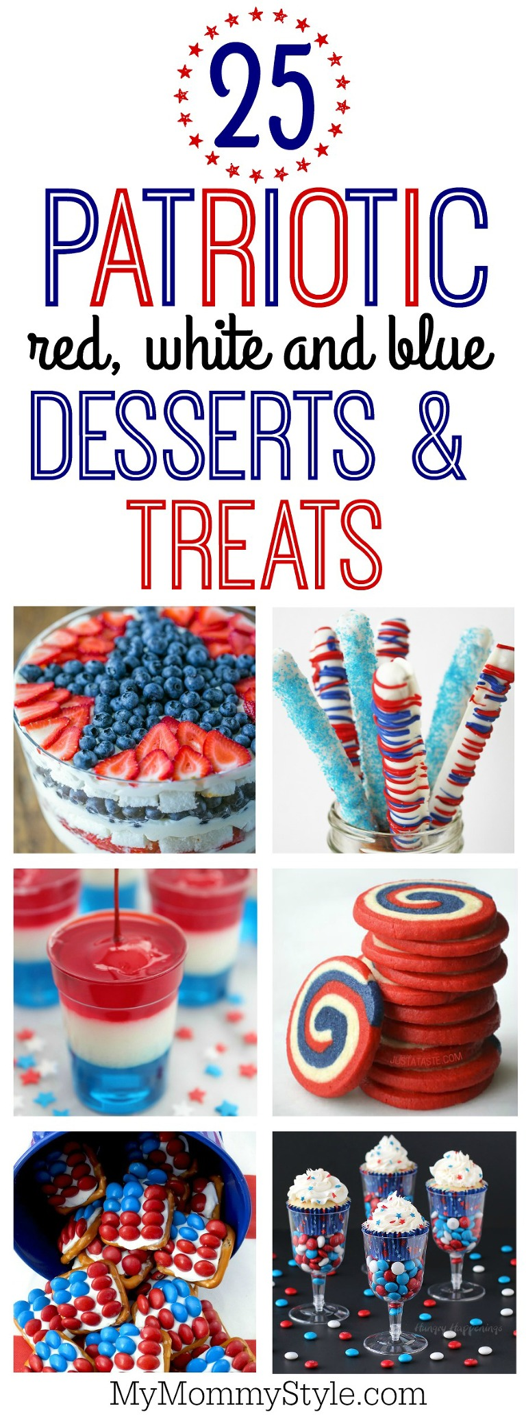 25 red, white and blue desserts and treats