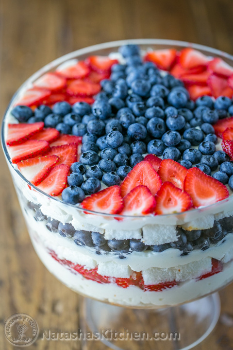 no bake strawberry blueberry trifle