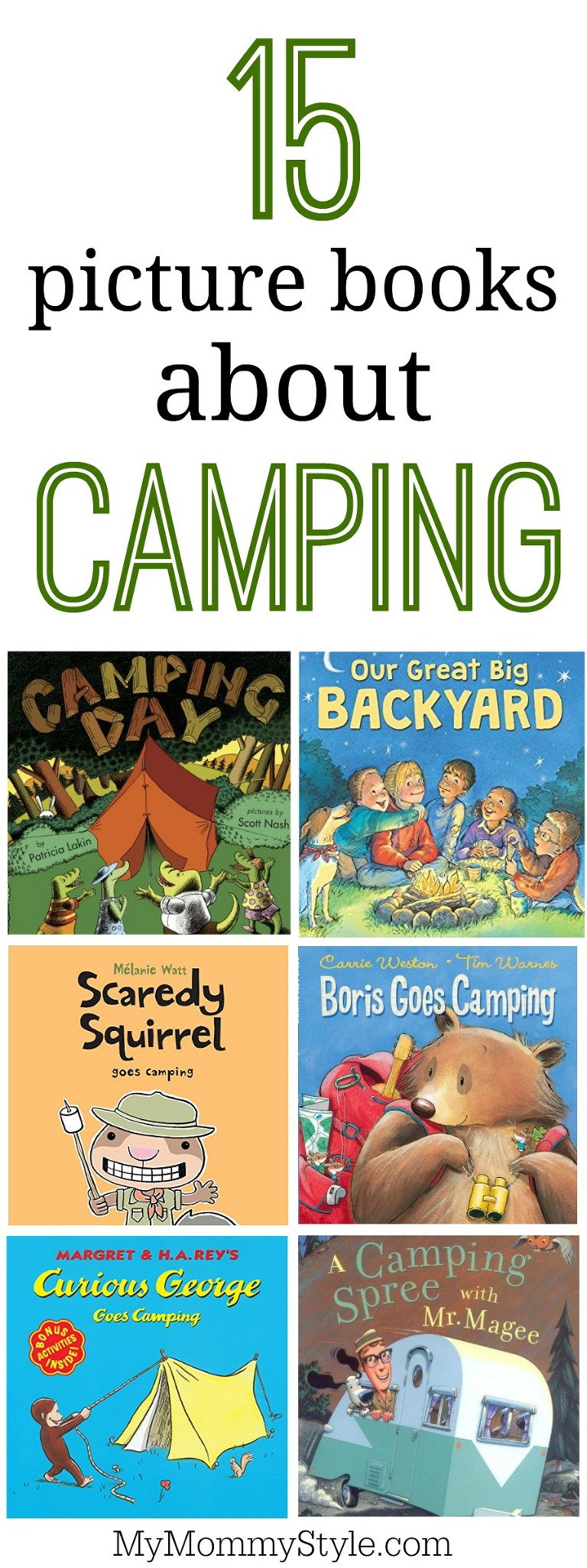 15 picture books about camping