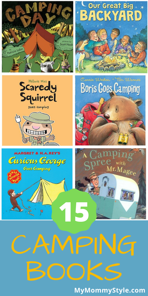 Kids love exploring and going on adventures! This list of 15 camping books are so fun for kids to read and plan their next trip into the great outdoors.  via @mymommystyle