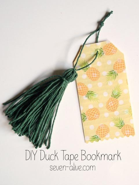 DIY Duck Tape Bookmark WT