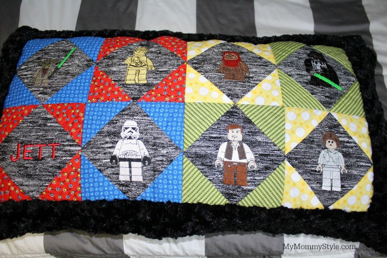 lego star wars embroidery, Star Wars shared room, bunk beds, star wars room, striped bedding, bunk bed