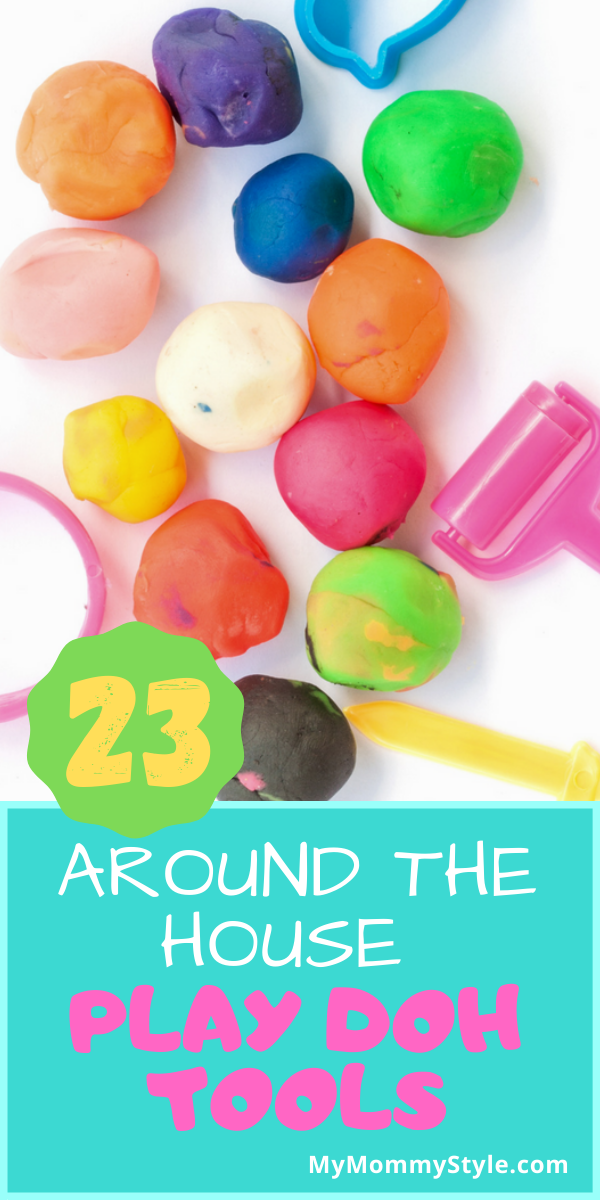 Take play doh to a new level of fun by offering some of these play doh tools! Most of these items are inexpensive and you can find them around the house. via @mymommystyle