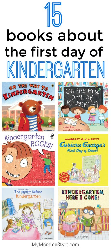 15 books about the first day of kindergarten